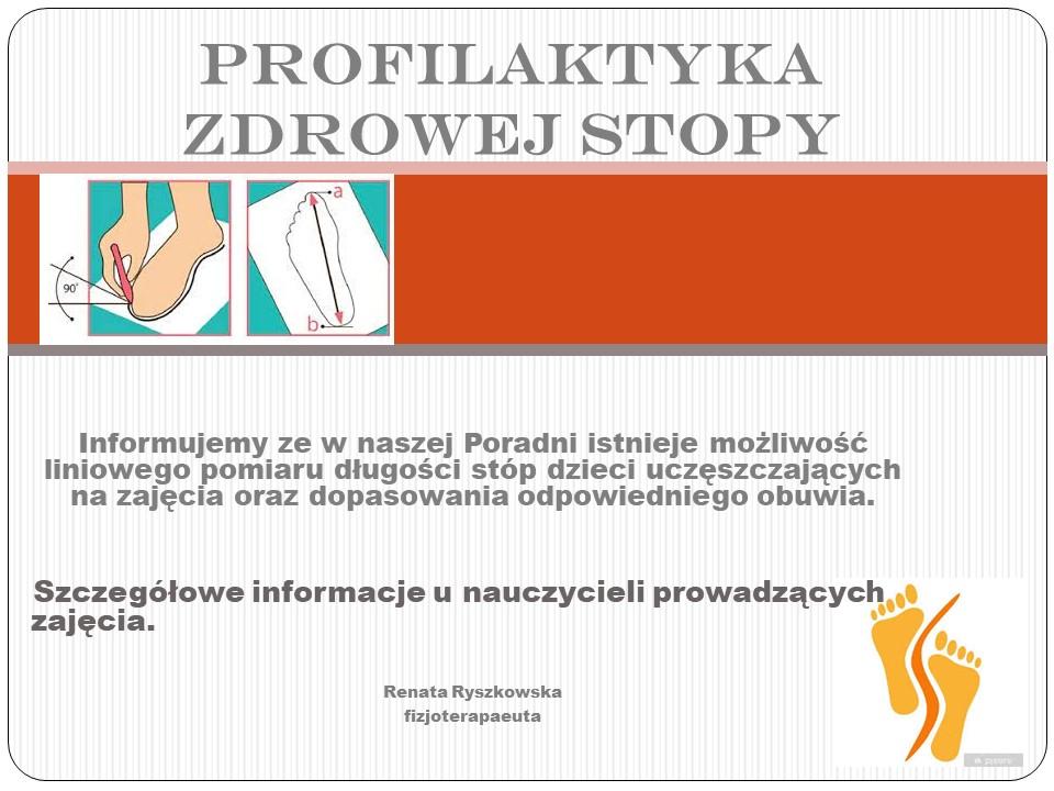 profilaktyka zdrowej stopy